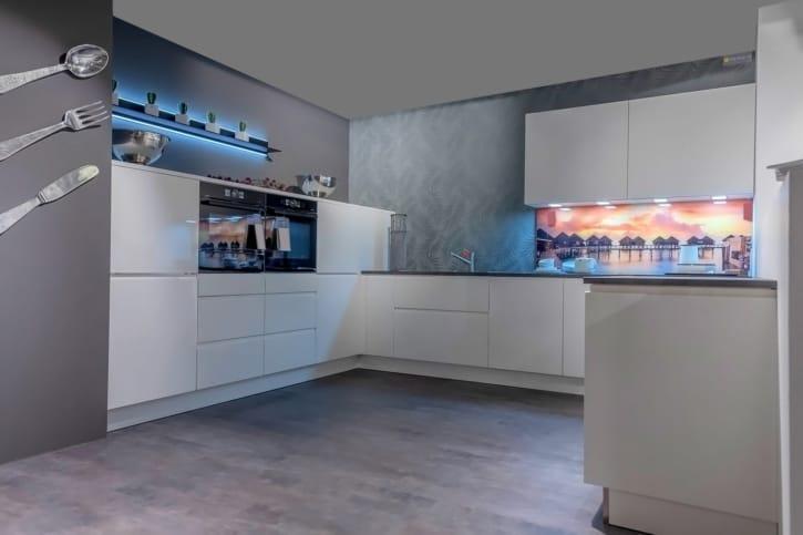 Nolte U-Küche Weiß Hochglanz