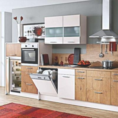 Kleine Holz Magnolie Küchenzeile 19