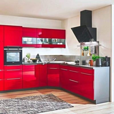 Kleine Küche L Küche Hochglanzlack 12