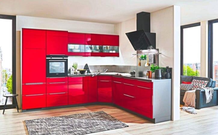 Kleine Küche L Küche Hochglanzlack 1