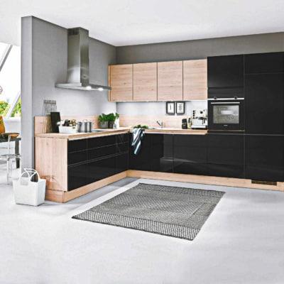 Kleine Küche Schwarz Lack 15