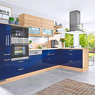 Küchenzeile Blau Lack 11