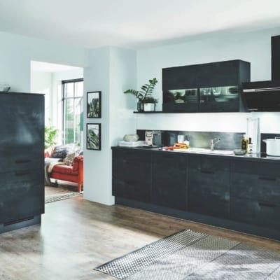 L Küche im Schwarzbeton und Schiefergrauenton 3