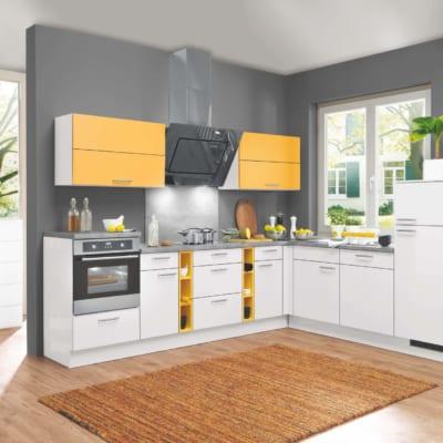 L Küche mit Mondscheingrauen Ton 89