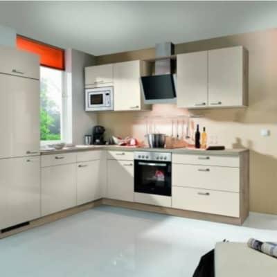 L Küche Crema Hochglanz Bergeiche 28