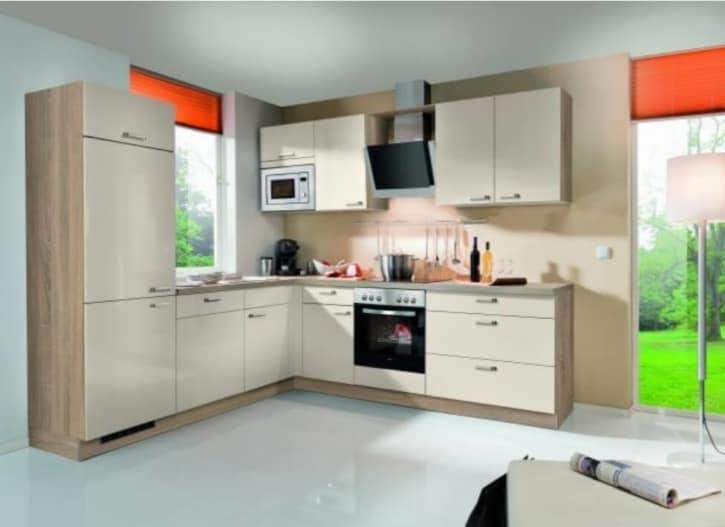 L Küche Crema Hochglanz Bergeiche 1