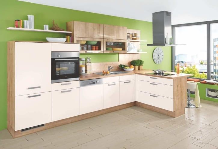 L Küche Magnolie Eiche Lack 1
