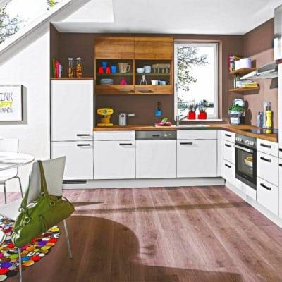 L Küche Modern Helle Eiche 7
