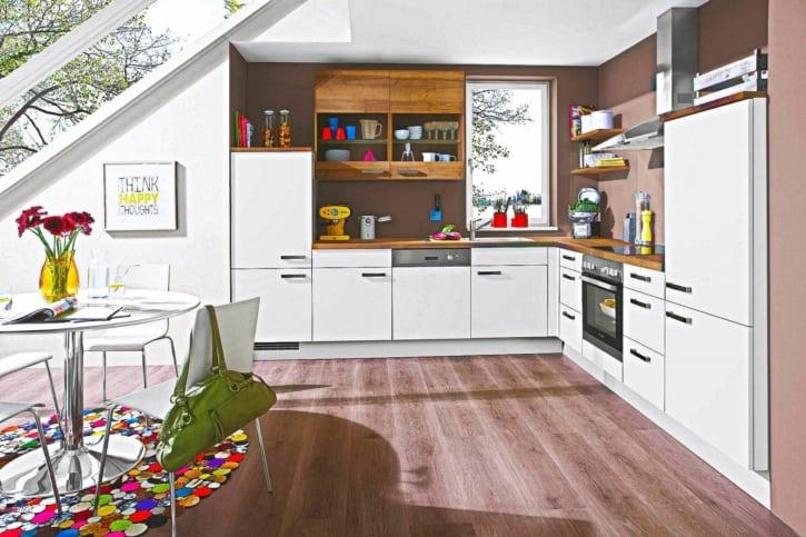 L Küche Modern Helle Eiche 1