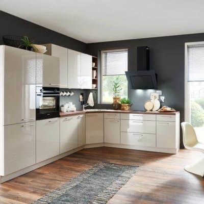 L-Küche Hochglanz Lux - Lack Sahara 3