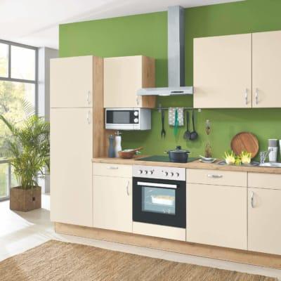 Magnolien Küchenzeile mit Eichensand 85