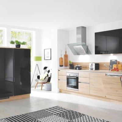 Moderne L Küche Schwarz Lack 27