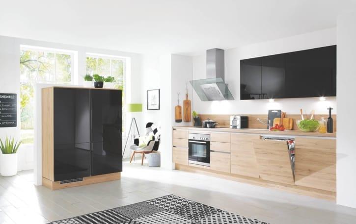 Moderne L Küche Schwarz Lack 1
