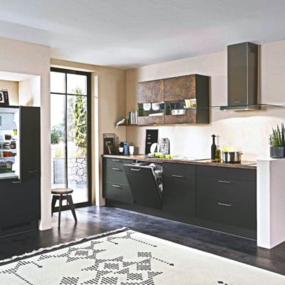 Moderne Lack Schwarze L Küche 5