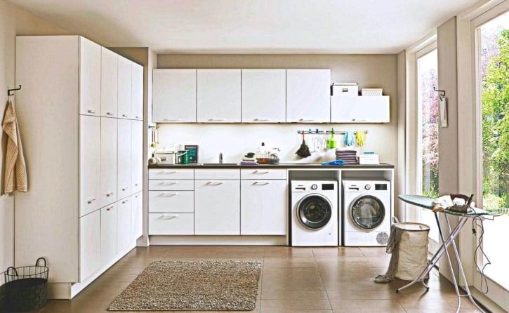 Nobilia Hauswirtschaftsraum in Weiß 1