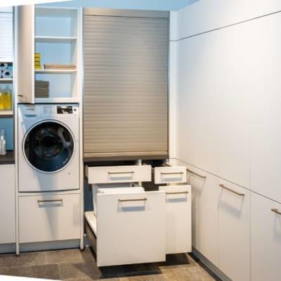 Nolte Hauswirtschaftsraum Weiß softmatt 105