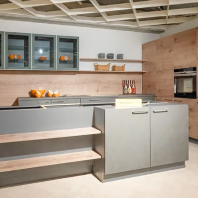 Nolte Insel Küche Timber Quarzgrau 21