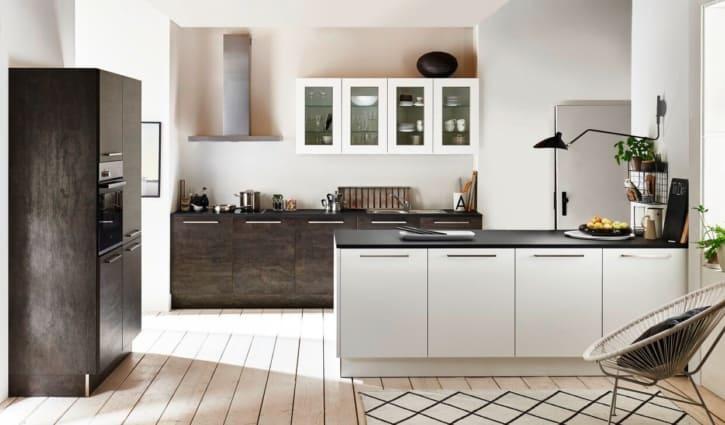 Nolte Inselküche U Küchen Artwood Eiche geflämmt 1