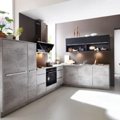 Nolte L Küche Beton Schwarz softmatt 27