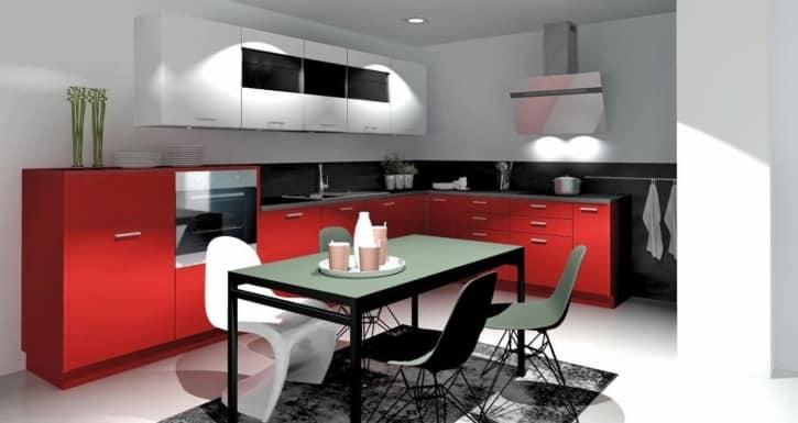 Nolte L Küche Florenz Rosso softmatt 1