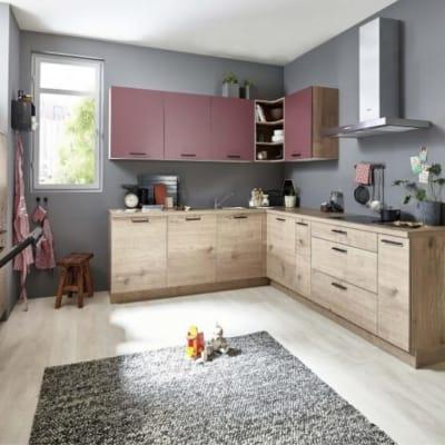 Nolte U Küche Steineiche Hennarot 20
