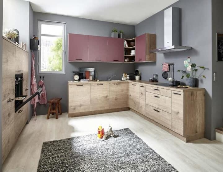 Nolte U Küche Steineiche Hennarot 1