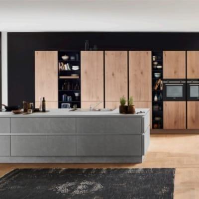 Nolte große Küche Zement Saphirgrau 16