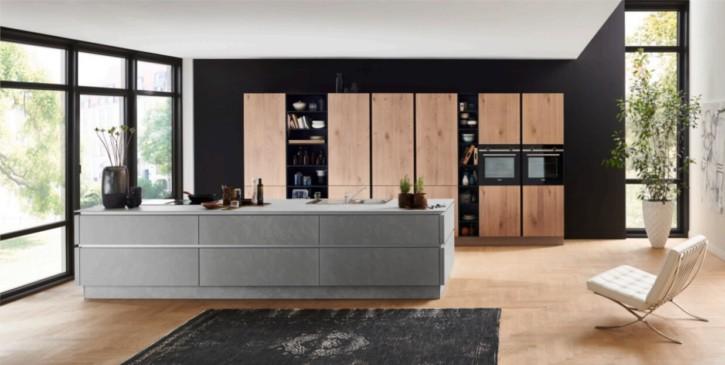 Nolte große Küche Zement Saphirgrau 1