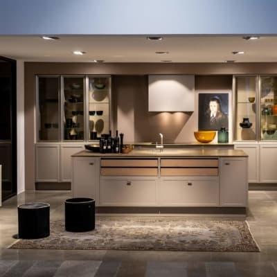 Nolte große U Küche Lava softmatt mit Mittelinsel 10