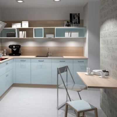 Nolte kleine L Küche pastellblau Madeira 5