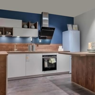 Impuls Küche Space Grey Oregon Eiche 4