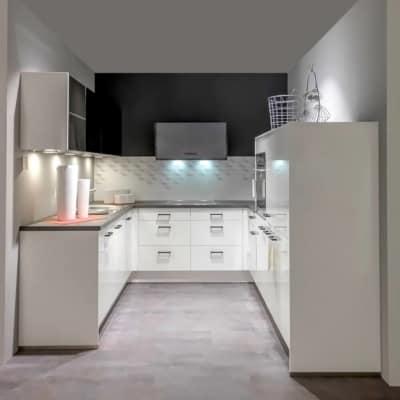Impuls U Küche Schwarz Weiß  21