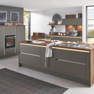 Quarzgraue Burger Inselküche U Küche 13