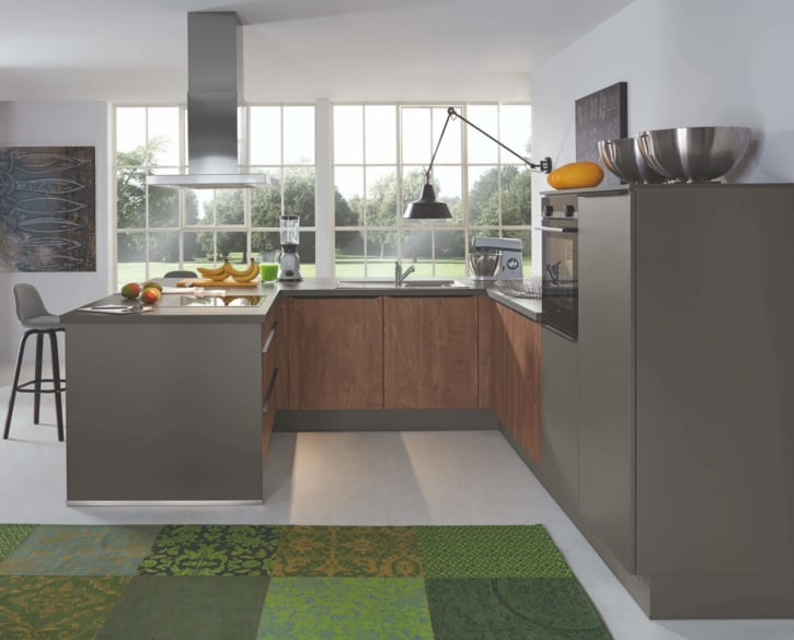 Quarzgraue Design U Küche 1