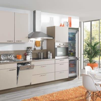 Sandbeige matte kleine Küchenzeile 5