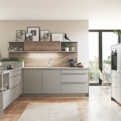 Steingraue Design Inselküche U Küche 33