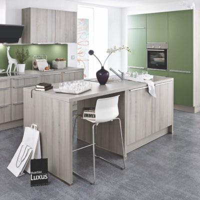 Einbauküche Hoch Modern Lack Grün Holz 13