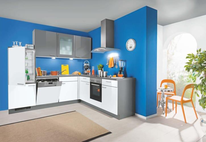 L Küche Blau Grau 1