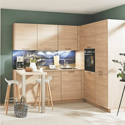 kleine Nobilia L Küche Eiche 77
