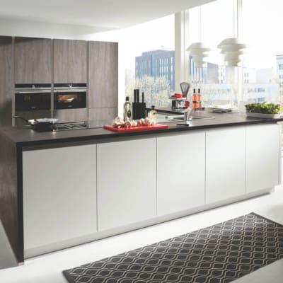Graue Große Insel L Küche 25