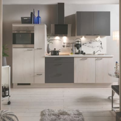 Skandinavische Eiche Quarzgraue Küchenzeile 35