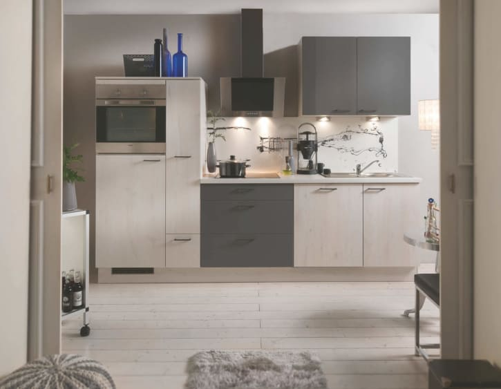 Skandinavische Eiche Quarzgraue Küchenzeile 1