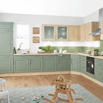 Salbei Ahorn Nachbildung Landhaus L Küche 27