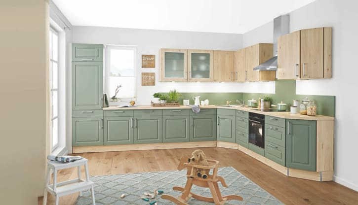Salbei Ahorn Nachbildung Landhaus L Küche 1