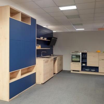 Nolte L-Küche in Blau