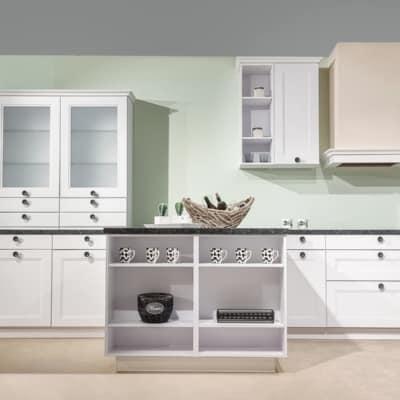 Bauformat Landhausküche Torino Arktis