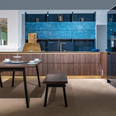 Bauformat L Küche Elegance Brown