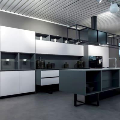 Aran Designküche Sipario inklusive Wohnwand
