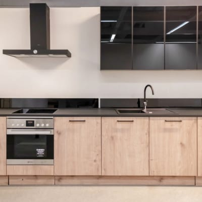 Nolte Küche Timber Steineiche Sahara mit Hochschrank