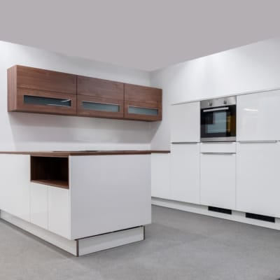 Nolte U-Küche Lux Weiß Hochglanz